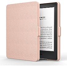 MoKo Hülle für Kindle 8 Generation - Die dünnste und leichteste Schutzhülle Smart Cover mit Auto Sleep/Wake Amazon Kindle (8. Generation - 2016 Modell) 6 Zoll eReader, Rose Gold