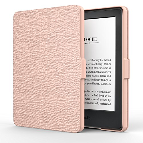 MoKo Hülle für Kindle 8 Generation - Die dünnste und leichteste Schutzhülle Smart Cover mit Auto Sleep/Wake Amazon Kindle (8. Generation - 2016 Modell) 6 Zoll eReader, Rose Gold