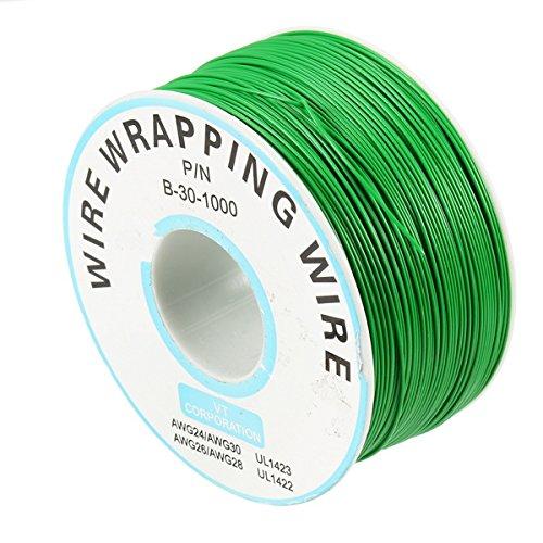 Bluelover 0,55Mm Platine Single-Core Verzinnte Kupfer Wire Wrap Elektronische Wire Fly Line Jumper Kabel 8 Farbe Zur Verfügung -Light Green