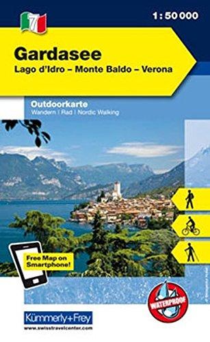 Lago di Garda, lago d'Idro, Monte Baldo, Verona 1:50.000. Carta escursionistica di Kümmerly + Frey
