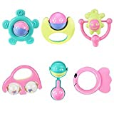 FAMI 6pc Lovely Handbells Animaux, Developpement Bébé Rattle Bells