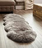 Extra großes Schafslammfell, Grau, Doppel-Lammfell Teppich …