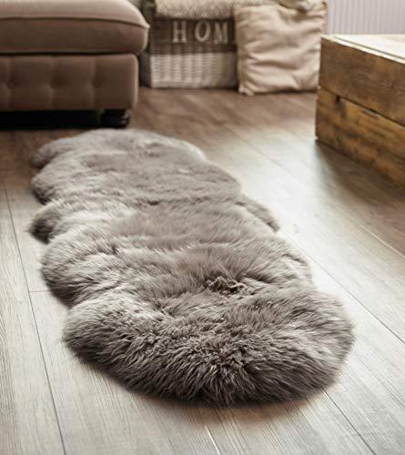 Yukon International Schaffell-Teppich Doppel, Grau (Schaffell-teppich)