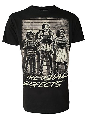 The Usual Suspects Mens Horror Movie Genuine Darkside Mens T Shirt Inspired by Freddy Jason and Leatherface