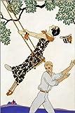 Poster 80 x 120 cm: The Swing, 1920s von Georges Barbier/Bridgeman Images - Hochwertiger Kunstdruck, Neues Kunstposter