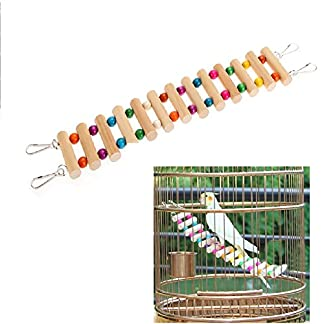 DAYNECETY Birdcage Ladder Climbing Toy Drawbridge For Budgie Parrot Parakeet Cockatiel Mice Hamster Guinea Perch… 9