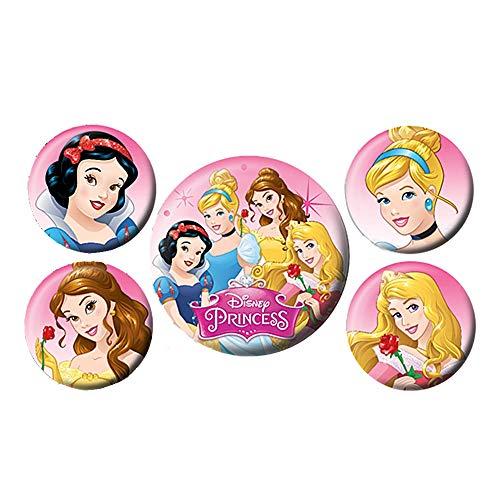 Echte Disney Princess 5 Stück Button Taste Abzeichen Stift Einstellen Belle Cinderella Aurora (Disney Princess Belle-schmuck)
