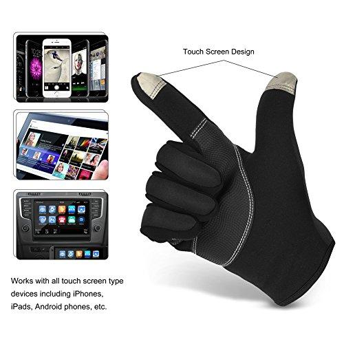 Vbiger TouchscreenHandschuhe Sport Handschuhe Fahrradhandschuhe Handy Handschuhe Motorrad Handschuhe mit Fleecefutter für Winter - 3