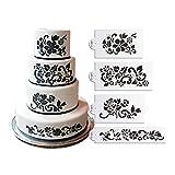La decorazione della torta di plastica Template Stencil Cake Topper Stencil per Wedding Cake Decorating Strumenti di cottura Strumenti utensili da cucina ST-228