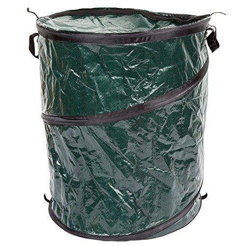 Wakeman Outdoor Pop Up Camping Garbage Can Trash Bin, 33Liter