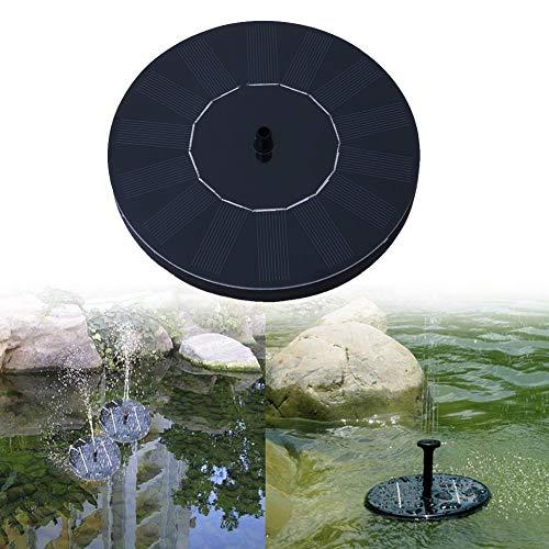 Submersible Fountain Pump Kit (Eulan Solar Fountain, Solar Powered Water Pump 1.5W Solar Panel Kit, Outdoor Watering Submersible Pump for Pond, Pool, Garden, Fish Tank, Aquarium (Round))