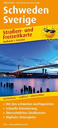 Schweden, Sverige: Straßen- und Freizeitkarte mit Touristischen Straßen, Highlights der Region und digitalem Ortsregister.. 1:900.000 (Straßen- und Freizeitkarte / StuF): Alle Infos bei Amazon
