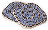 ALEA Mosaic Mosaik Bausatz, 2 Untersätze, Blau