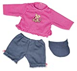 Cheapest Bayer Design 46cm Jeans Trousers Shirt and Cap for Dolls (Red) on Clothing