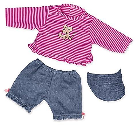 Bayer Design - 84651 - Vêtement Pour Poupée - Habit Poupon - Ensemble Pantalon Jean - 40-46 Cm