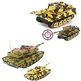 HSP Himoto German Leopard 2A5 vs German Tiger I - 2 x RC Ferngesteuerter Panzer Battle-Set, Gefechtmodi, Schusssimulation, Sound und Beleuchtung, Komplett-Set