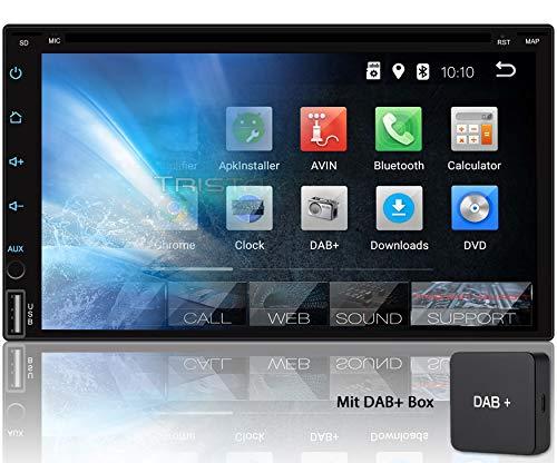 Tristan Auron BT2D7018A-DVD Autoradio mit DAB+ Box, 7\'\' Touchscreen Bildschirm, Android 9.0, GPS Navi, Bluetooth Freisprecheinrichtung, Quad Core, CD DVD Laufwerk, USB/SD, DAB+, 2 DIN