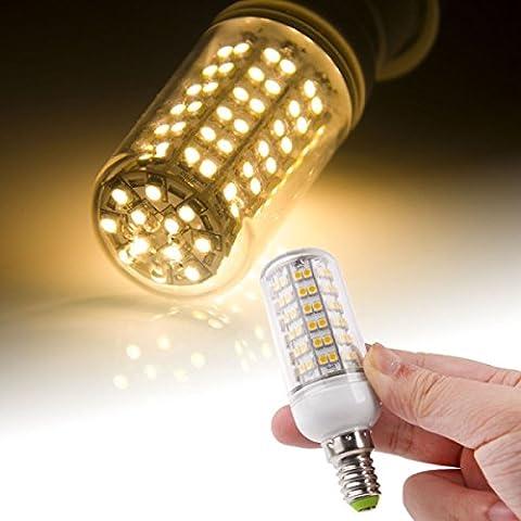 E143528SMD 8.0W AC 220V 660LM LED Leuchtmittel LED Light mit Außen transparent (warmweiß Light