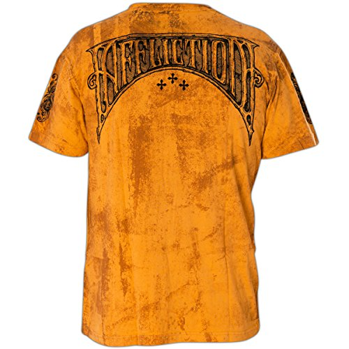 Affliction T-Shirt A Frame Orange Orange