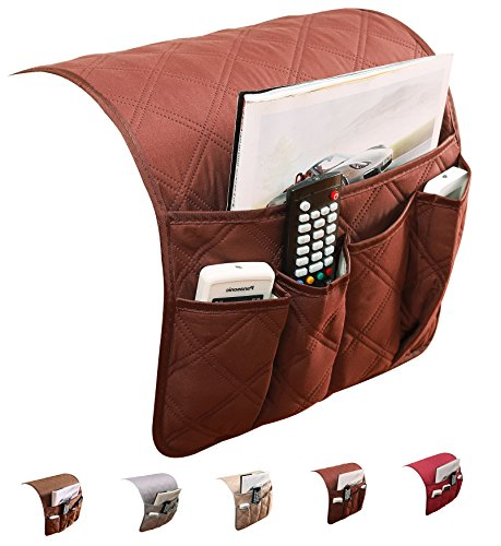 puting Space Saver Sofa Couch Armlehne Organizer Stuhl, wasserdicht, passt für Handy, Buch, Zeitschriften, TV Fernbedienung Halter NEW Coffee (Magazin-speicher-korb)