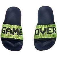 Boys Sliders Kids Game Over Sandals Summer Beach Flip Flops Pool Gaming Shoes for Children