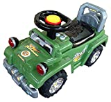 EZ' PLAYMATES BABY RIDE ON JEEP GREEN