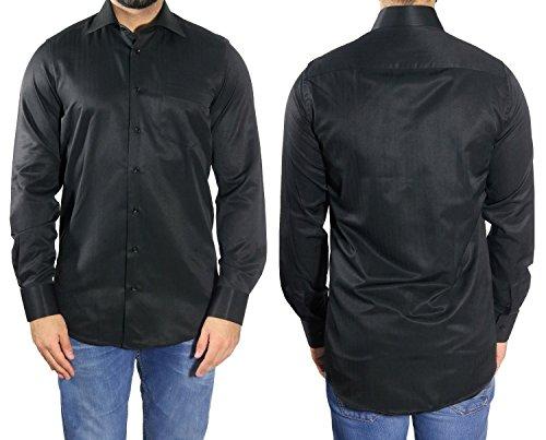 MUGA Homme Chemise à manches extra longues Noir