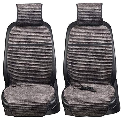 LIQICAI Sitzheizung Auto Auflage Intelligenter Temperaturregler Winter Fahren, 3 Farben Optional (Farbe : SCHWARZ, größe : 52x114CM)