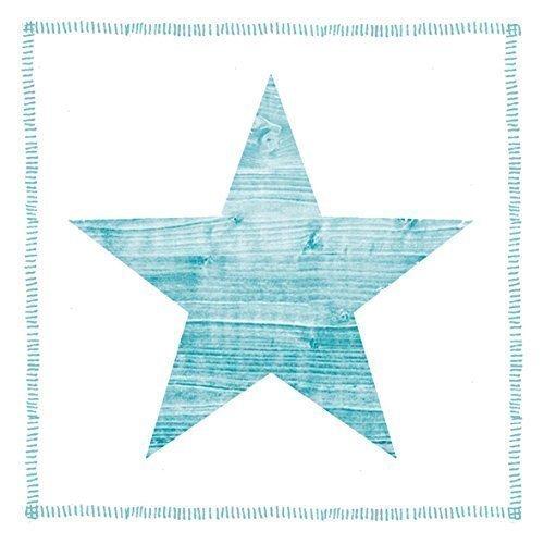 STAR OCEAN BLEU BLANC 3 épaisseurs 20 Papier Serviettes 13 \\