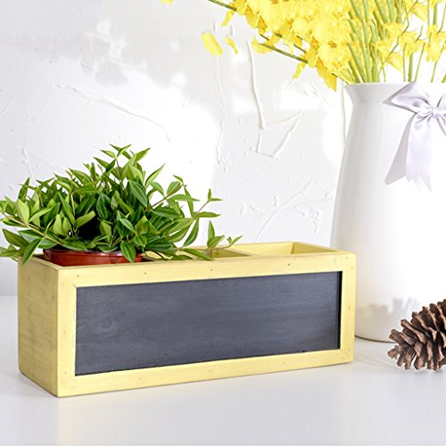 LXF Pots Plante Fleurs Étagère à fleurs Mini bureau en bois massif Windowsill Suspension ( Couleur : Le jaune )