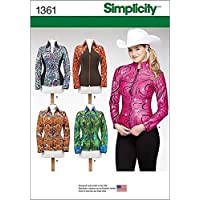 Simplicity Creative Patterns 1361 Misses' Knit Equestrian Performance Shirt, H5 (6-8-10-12-14) by Simplicity Creative Inc. Patterns