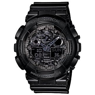 Casio G-Shock World time Analog-Digital Black Dial Men's Watch – GA-100CF-1ADR (G520)