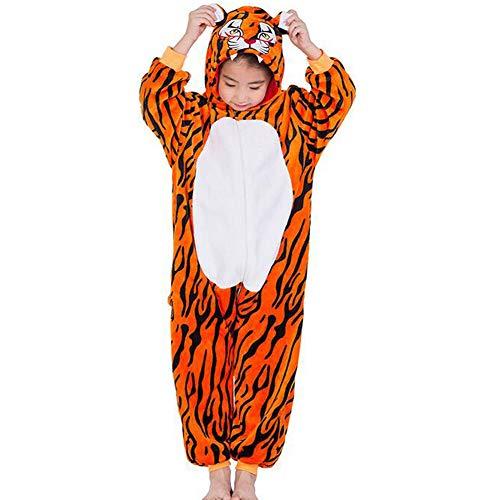 SHANGXIAN Kinder Tiger Tier Pyjamas Onesies Kostüme Kinder Freizeitkleidung Nachtwäsche,140