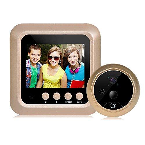 Yunshangauto Digitaler Türspion 2,4 Zoll Bewegungserkennung Weitwinkel Kamera für Türstärke von 35 ~110MM Überwachungskamera mit digital-Video Monitor 160 Weitwinkel Kamera Peephole Viewer (Bewegungserkennung)