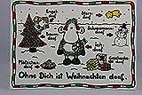 sheepworld - 50302 - Postkarte, Weihnachten, Schaf, Ohne Dich ist Weihnachten doof.