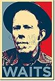 TPCK Tom Waits Kunstdruck (Obama Hope Parodie) Hochglanz Foto Poster - Maße: 60 x 40 cm