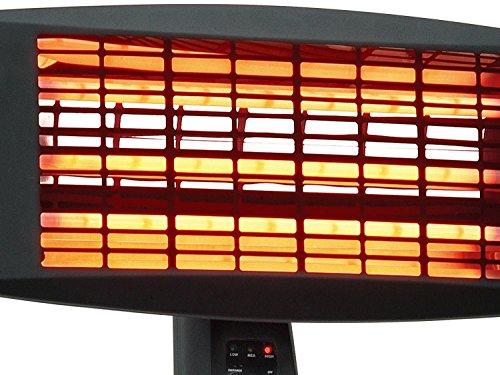 : Traedgard® Infrarot-Heizstrahler Fehmarn 650-2000 Watt inkl. Fernbedienung, 64531 - 2