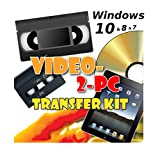 Video-2-PC DIY Video Capture Kit. For Windows 10, 8.1, 8, 7, Vista & XP. Links your VCR or Camcorder to the USB port on your PC. Copy, Convert, Transfer: VHS, Video-8, VHS-C, Hi8, Digital8, & MiniDV video tapes to digital format H.264, MPEG, MPEG-2, MPEG-4 & uncompressed AVI files & burn to DVD. Tested with Windows 10, 8.1 & Windows 7 32 & 64 bit, Vista & XP. 14 day refund offer if not completely delighted.