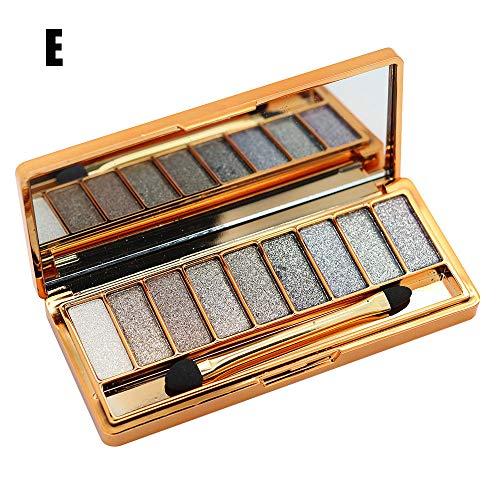 Palette fard à paupières,LHWY fard à paupière palette Fashion 9 Colors Eyeshadow Palette Luxury Golden Matte Nude Eye Shadow Palettes