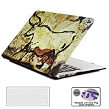 SOUNDMAE MacBook Air 13 inch Case, Cave Paintings Plastic Hard Laptop Case Shell Cover with Soft TPU Keyboard Cover for Apple MacBook Air 11 inch [A1370&A1465]