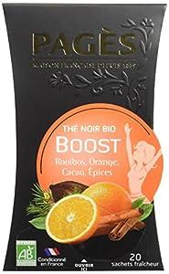 PAGÈS Thé Noir Boost Bio 36 g - Lot de 3