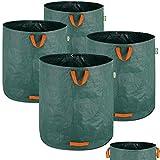 4X Sacs de Jardin 500L 50 kg Sac de déchets ordures végétaux Tissu renforcé Pliable hydrofuges Sac