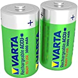 Varta Rechargeable Accu Ready To Use vorgeladnener C Baby NiMh Akku (2er Pack, 3000 mAh,...