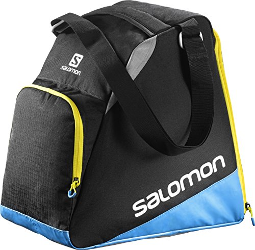 Salomon, Ski-Ausrüstungstasche (33 L), EXTEND GEARBAG, Schwarz/Blau, (Black/Process Blue/Corona Yellow), L38280500