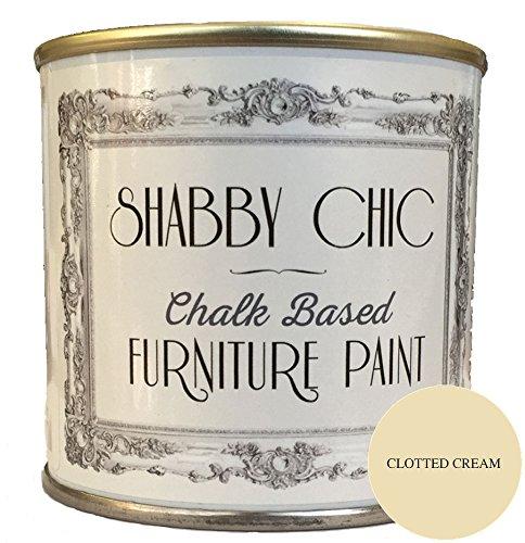 Shabby Chic Furniture Paint - Pintura para muebles, para crear un estilo shabby chic, color crema 1 l.