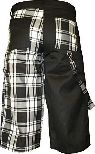 Nix Gut - Tartan, Short im Straight-Fit-Style, Farbe: Schwarz/Weiß Schwarz