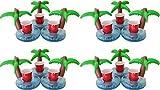 Ababalaya 3pcs/6/12 Palme Aufblasbarer Getränkehalter Flaschenhalter Pool Party-Accessoire 20×20cm,Grün,12pcs