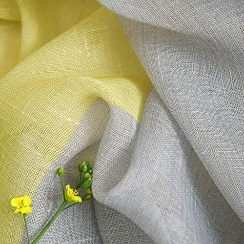 Cortinas amarillas y grises de ventana transparente 200x260 cm
