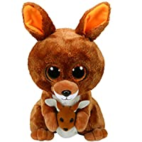 Ty 37160 Kipper Soft Toy Kangaroo with Glitter Eyes Glub Push