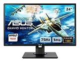 ASUS VG245HE 61 cm (24 Zoll) Gaming Monitor (Full HD, FreeSync, HDMI, 1ms Reaktionszeit) Grau/schwarz